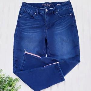 Melissa McCarthy Seven 7 Ankle Zip Skinny Jeans 14